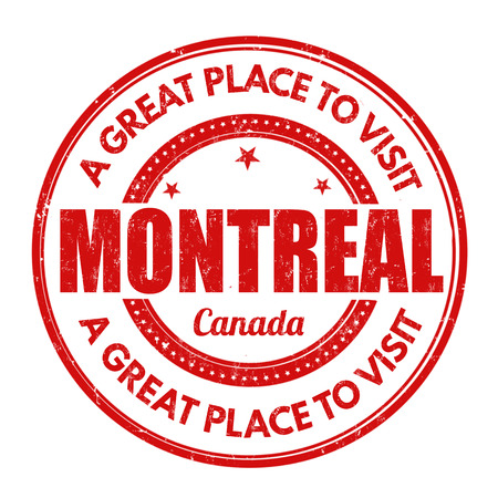 canada stamp: Montreal grunge rubber stamp on white background, vector illustration Illustration