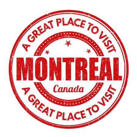 montreal: Montreal grunge rubber stamp on white background, vector illustration Illustration