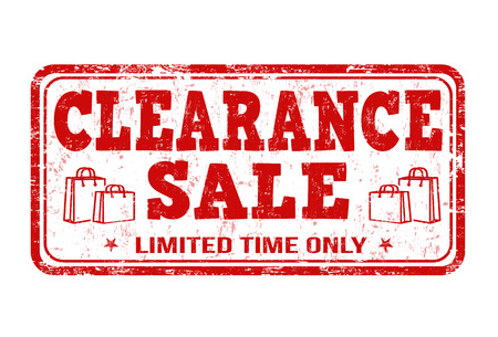 webshop: Clearance sale grunge rubber stamp on white background, vector illustration