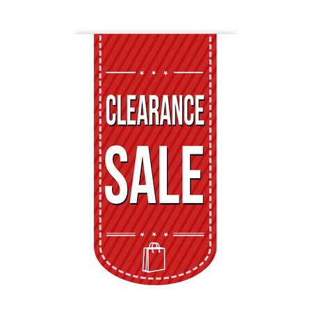 extra money: Clearance sale banner design over a white background, vector illustration