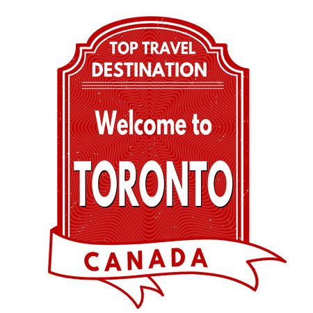 canada stamp: Welcome to Toronto grunge rubber stamp on white background, vector illustration Illustration