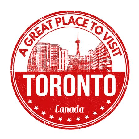 toronto: Toronto grunge rubber stamp on white background, vector illustration Illustration