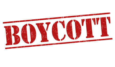 boycott: Boycott grunge rubber stamp on white background, vector illustration Illustration