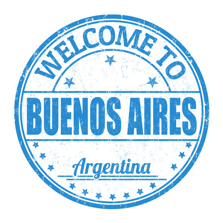 best travel destinations: Welcome to Buenos Aires grunge rubber stamp on white background, vector illustration