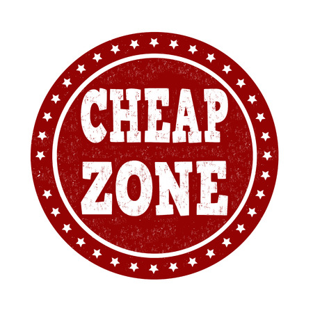 cheap: Cheap zone grunge rubber stamp on white, vector illustration