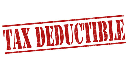 deduct: Tax deductible grunge rubber stamp on white background, vector illustration Illustration