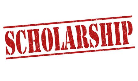 scholarly: Scholarship grunge rubber stamp on white background, vector illustration Illustration