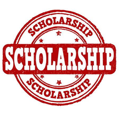 scholarship: Scholarship grunge rubber stamp on white background, vector illustration Illustration