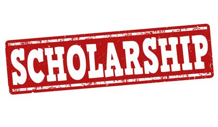 Scholarship grunge rubber stamp on white background, vector illustration Stock Illustratie
