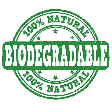 biodegradable: Biodegradable grunge rubber stamp on white background, vector illustration Illustration
