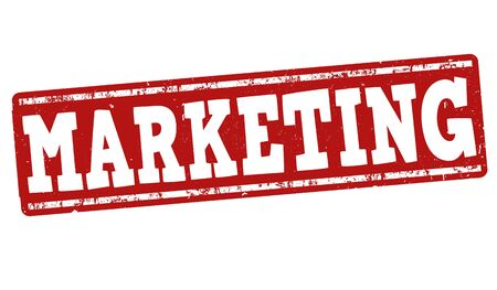 Marketing grunge rubber stamp on white background, vector illustration Vector