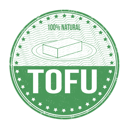 Tofu grunge rubber stamp on white background, vector illustration