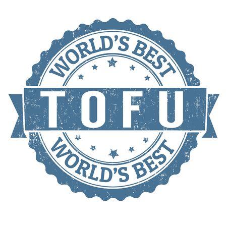 vegetal: Tofu grunge rubber stamp on white background, vector illustration Illustration