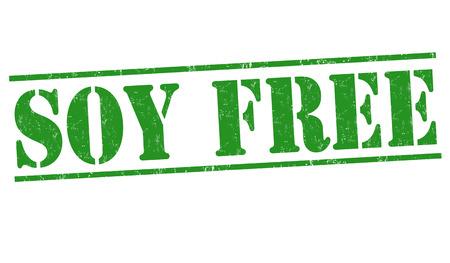 soy free: Soy free grunge rubber stamp on white background, vector illustration Illustration