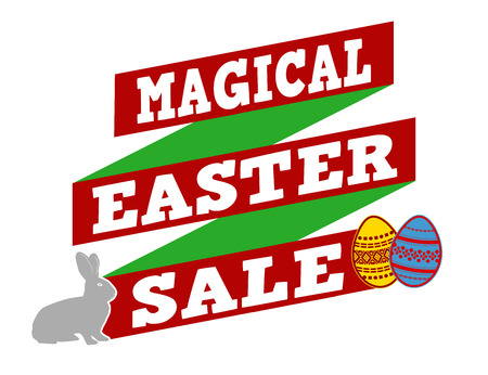 recommendations: Magical Easter sale banner design over a white background, vector illustration Illustration