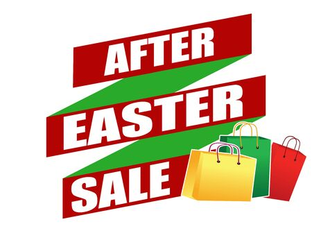 recommendations: After Easter sale banner design over a white background, vector illustration
