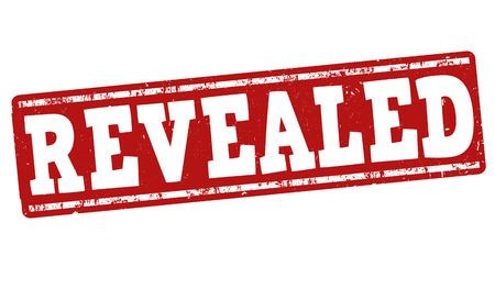 revealed: Revealed grunge rubber stamp on white background, vector illustration