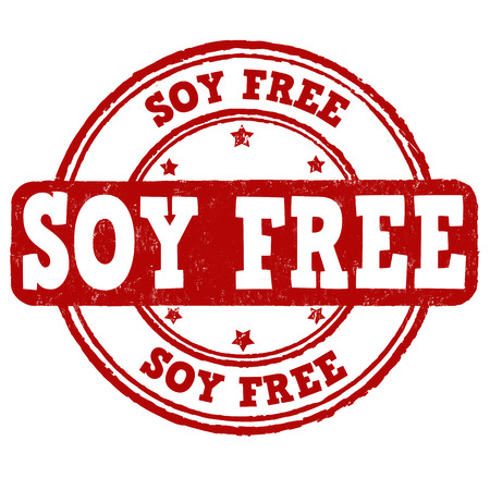 soy: Soy free grunge rubber stamp on white background, vector illustration Illustration