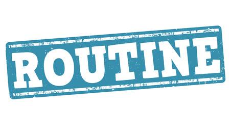 regularly: Routine grunge rubber stamp on white background, vector illustration Illustration