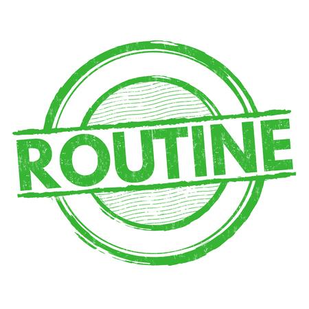 usual: Routine grunge rubber stamp on white background, vector illustration Illustration