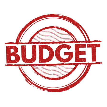 cost estimate: Budget grunge rubber stamp on white background, vector illustration Illustration