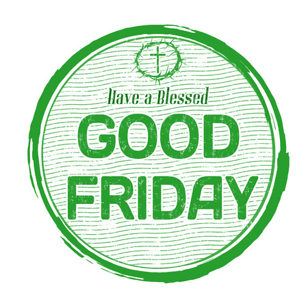 good friday: Good friday grunge rubber stamp on white background, vector illustration