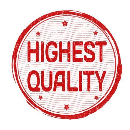 premier: Highest quality grunge rubber stamp on white background, vector illustration