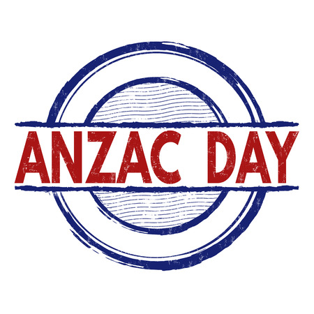 commemoration day: Anzac Day grunge rubber stamp on white background, vector illustration