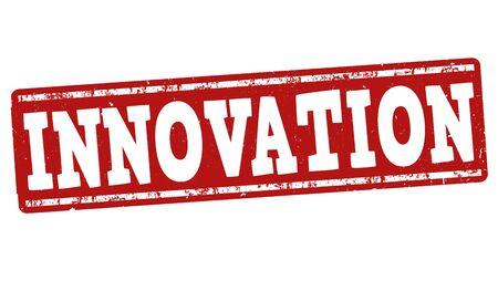 Innovation grunge rubber stamp on white background, vector illustration Vector