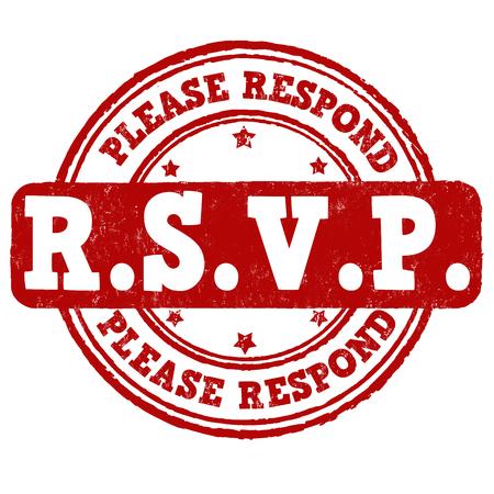 Please Respond grunge rubber stamp on white background, vector illustration