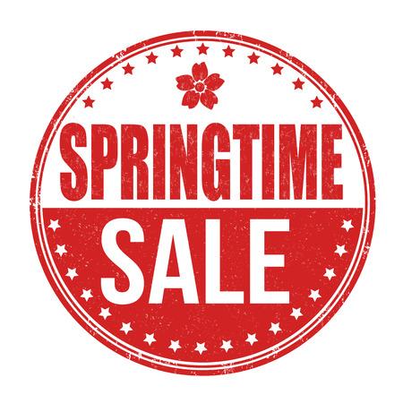 springtime: Springtime sale grunge rubber stamp on white, vector illustration