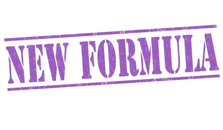 New formula grunge rubber stamp on white background, vector illustration Vector