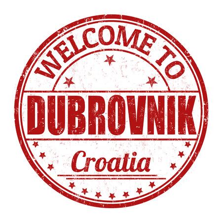 croatia dubrovnik: Welcome to Dubrovnik grunge rubber stamp on white background illustration
