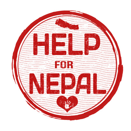 Help Nepal grunge rubber stamp on white background Vector