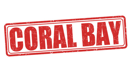 Coral Bay grunge rubber stamp on white background, vector illustration Vector