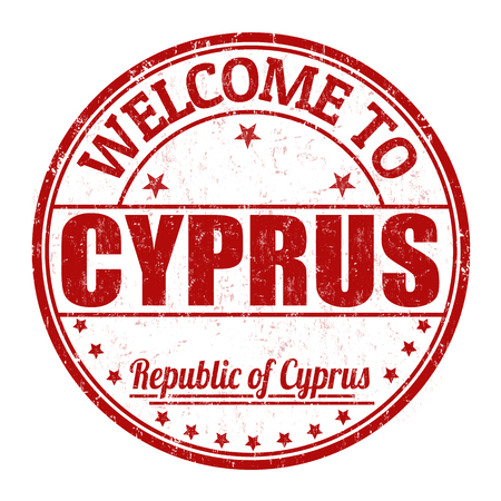 impress: Welcome to Cyprus grunge rubber stamp on white background, vector illustration Vettoriali