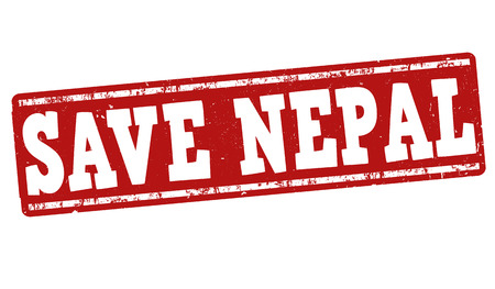 disaster relief: Save Nepal grunge rubber stamp on white background, vector illustration Illustration