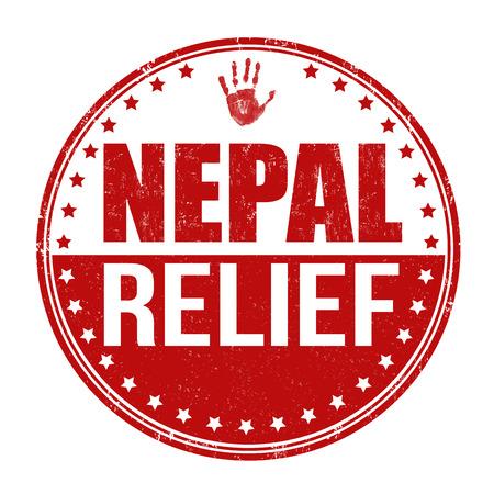 devastating: Nepal relief grunge rubber stamp on white background, vector illustration Illustration