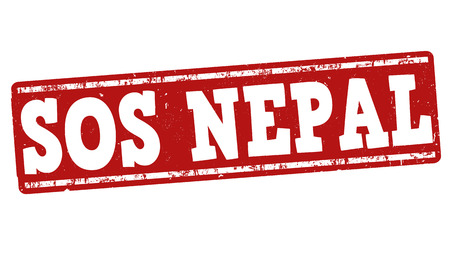 disaster relief: SOS Nepal grunge rubber stamp on white background, vector illustration Illustration