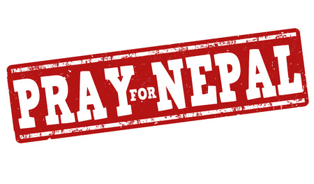 disaster relief: Pray for Nepal grunge rubber stamp on white background, vector illustration Illustration