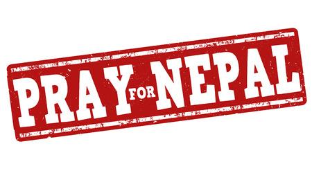 devastating: Pray for Nepal grunge rubber stamp on white background, vector illustration Illustration