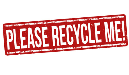 Please recycle me grunge rubber stamp on white background, vector illustration