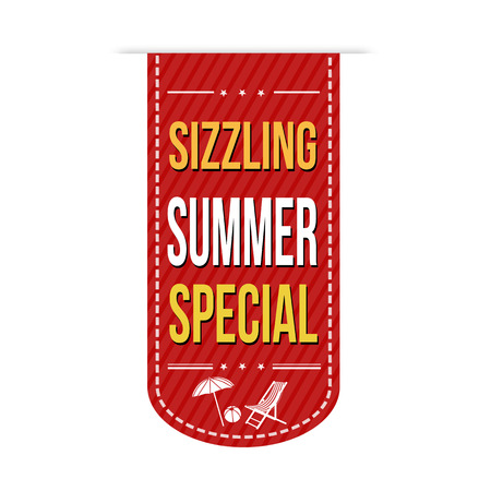Sizzling summer special banner design over a white background, vector illustration