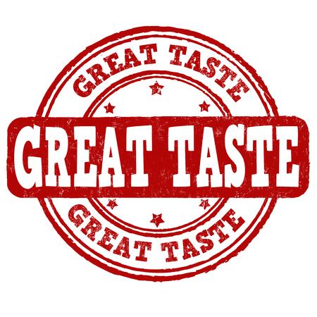 fine cuisine: Great taste grunge rubber stamp on white background, vector illustration