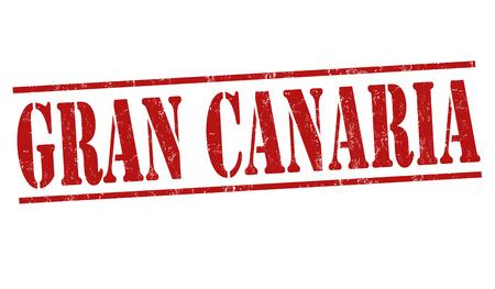 gran: Gran Canaria grunge rubber stamp on white, vector illustration