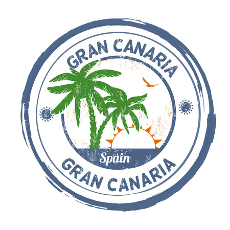 Gran Canaria grunge rubber stamp on white background, vector illustration