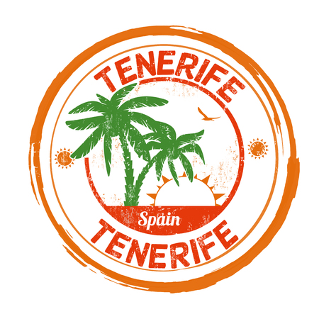 Tenerife grunge rubber stamp on white background, vector illustration Vector