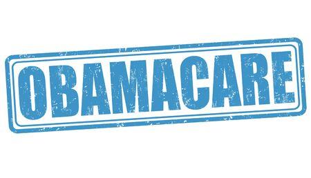 senate: Obamacare grunge rubber stamp on white background, vector illustration