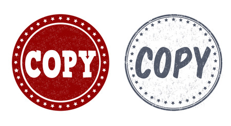 backing up: Copy grunge rubber stamps on white, vector illustration Illustration