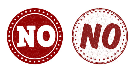 disallow: No grunge rubber stamps on white, vector illustration
